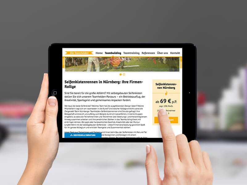 Responsive Website iPad